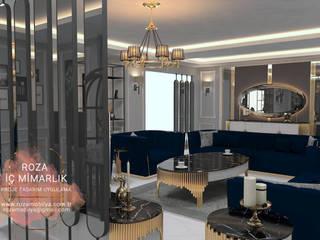LUXURY FURNİTURE  SALON PROJESİ Roza Mobilya mimari dekorasyon Modern Duvar & Zemin