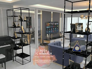 YEMEK ODASI PROJE VE UYGULAMA İŞİ  MODERN LUXURY FURNİTURE Roza Mobilya mimari dekorasyon Modern Oturma Odası