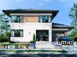 Проект двухэтажного дома с террасой TMV 93 от TMV Architecture company