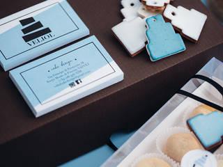 manuarino architettura design comunicazione 辦公室&店面 陶器 Turquoise