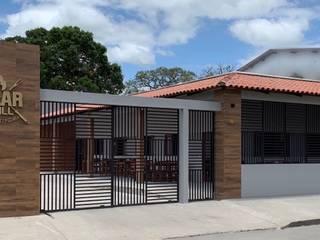 Churrascaria e Pizzaria Bares e clubes rústicos por Jorge Júnior Arquitetura Rústico