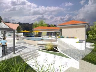 villa d'inspiration provençale Jardin méditerranéen par A.FUKE-PRIGENT ARCHITECTE Méditerranéen