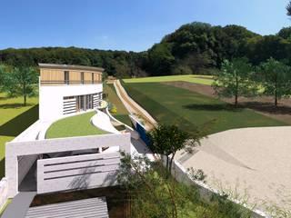 villa familiale sur implantée limite Maisons modernes par A.FUKE-PRIGENT ARCHITECTE Moderne