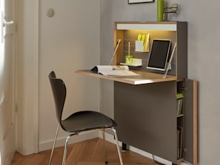 studio michael hilgers Study/officeDesks Plywood Grey