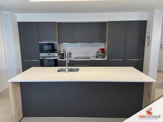 Cozinha super mate Norconcept cozinhas Interiores e renováveis lda CozinhaArmários e estantes MDF Cinzento