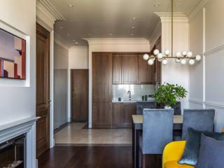 Дизайн квартиры 43 метра для девушки Кухня в стиле модерн от Дизайнер Алина Лютая Модерн