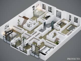 Diseño 3D de planos comerciales para venta de viviendas de Proyecto 3D Valencia Renders Animaciones 3D Infografias Online