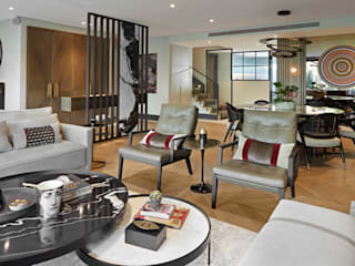 SAVOY HOUSE Esra Kazmirci Mimarlik Modern Oturma Odası Taş Gri