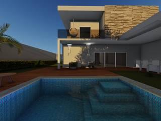 Larissa Leite Arquitetura e Interiores บ้านเดี่ยว Grey