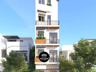 Thiết kế nhà phố hiện đại mặt tiền 4m 5 tầng tại Thủ Đức bởi NEOHouse