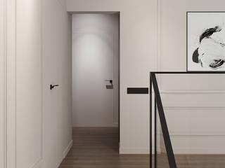 Интерьер квартиры по улице Малышева в Екатеринбурге Коридор, прихожая и лестница в стиле минимализм от CNTR Architects Минимализм