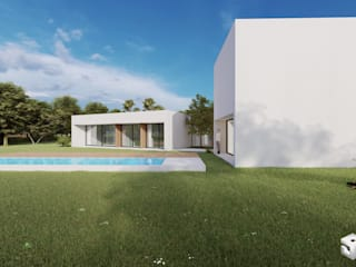 Arquiteto João Contente – Casa FD por Arquiteto João Contente Associados