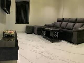 EAT.DRINK.RELAX.REPEAT Minimalist living room by DS DESIGN STUDIO Minimalist