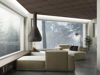 Un tetto tra la natura Soggiorno classico di FAD Fucine Architettura Design S.r.l. Classico