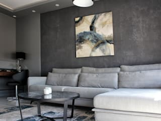 Kuca İnterior Design & Art Industrial style living room