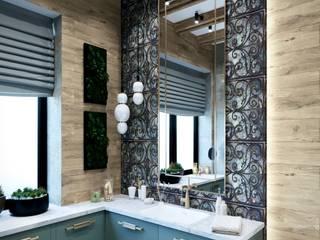 Просторный дом для молодой семьи Ванная комната в эклектичном стиле от Диана Забродина студия 'Dia-project' Эклектичный