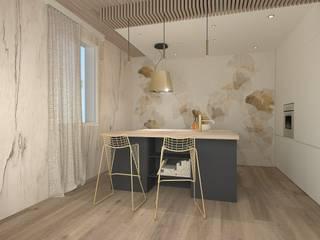Casa di Daniela: cucina e bagno principale Cucina moderna di serenascaioli_progettidinterni Moderno