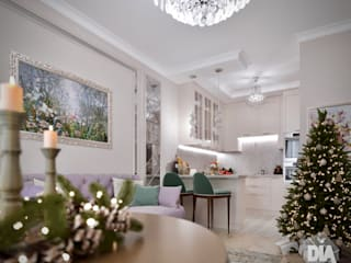 Небольшая квартира для молодой девушки Гостиная в классическом стиле от Диана Забродина студия 'Dia-project' Классический