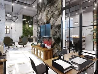 Офис продаж Офисные помещения в стиле лофт от Диана Забродина студия 'Dia-project' Лофт