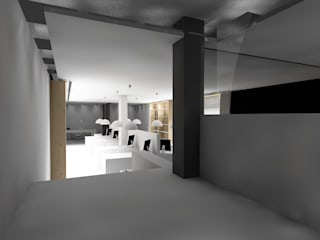 Escritório de condomínios Espaços de trabalho minimalistas por Carlos Amorim Faria, Arquitecto Minimalista
