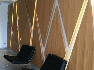 Edificio Novaterra Livings de estilo moderno de Vetas · Diseño Mobiliario Moderno