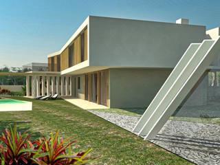 Garagem Piscina e Exteriores Garagens e arrecadações modernas por Imagem Publica, Design & Comunicação Moderno
