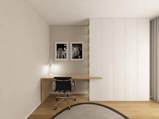 Escritório com cama para hospedes Escritórios modernos por 411 - Design e Arquitectura de Interiores Moderno
