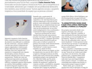ENTREVISTA - GESTÃO EMPRESARIAL por Carlos Amorim Faria, Arquitecto Minimalista