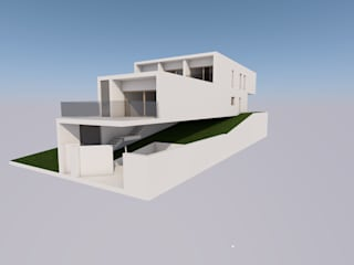 Estudo para uma moradia de condomínio por Carlos Amorim Faria, Arquitecto Minimalista