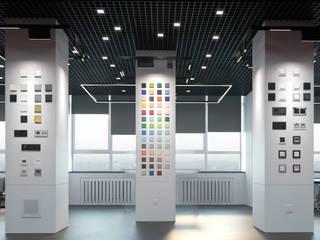 Шоу-Рум компании Jung Офисы и магазины в стиле лофт от Nikafish design Лофт