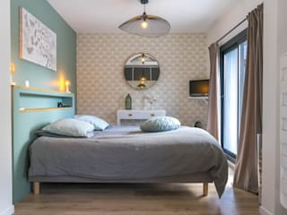 chambre chic et douce Chambre originale par MISS IN SITU Clémence JEANJAN Éclectique