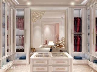 Closet design in luxury neoclassic style villa Classic style dressing room by Algedra Interior Design Classic