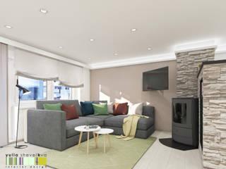 Scandinavian style living room by Мастерская интерьера Юлии Шевелевой Scandinavian