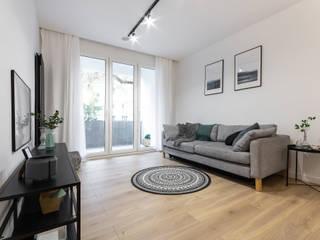 Mieszkanie Koziny Minimalistyczny salon od DCODE Emilia Krysińska Projektowanie Wnętrz i Architektura Minimalistyczny