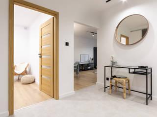Mieszkanie Koziny Minimalistyczny korytarz, przedpokój i schody od DCODE Emilia Krysińska Projektowanie Wnętrz i Architektura Minimalistyczny