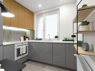 Mieszkanie Koziny Minimalistyczna kuchnia od DCODE Emilia Krysińska Projektowanie Wnętrz i Architektura Minimalistyczny