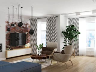 Scandia Гостиная в скандинавском стиле от Мастерская дизайна ViO-design Скандинавский
