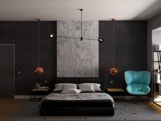 Scandia Спальня в стиле лофт от Мастерская дизайна ViO-design Лофт