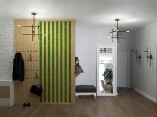 Scandia Коридор, прихожая и лестница в скандинавском стиле от Мастерская дизайна ViO-design Скандинавский