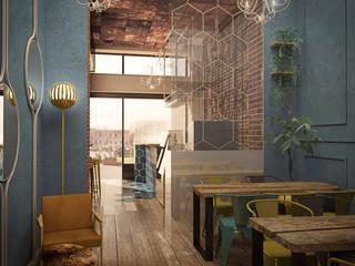 BAR b9 MILANO Ingresso, Corridoio & Scale in stile industriale di Architetto Libero Professionista Industrial
