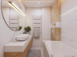 Łazienka - mieszkanie Ruda Śląska #6 Nowoczesna łazienka od Polilinia Design Nowoczesny