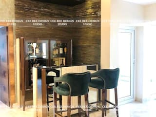 Bungalow Interior Project in Kolkata: Harsha Modern living room by Cee Bee Design Studio Modern