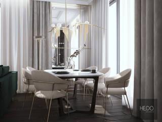 Wawer House parter Hedo Architects Nowoczesna jadalnia