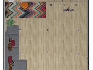 planta do espaço por 7eva design - Arquitectura e Interiores