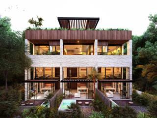 트로피컬 주택 by Indigo Diseño y Arquitectura 휴양지