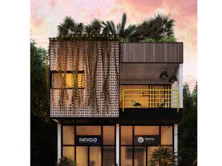 트로피컬 서재 / 사무실 by Indigo Diseño y Arquitectura 휴양지