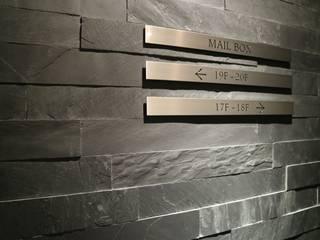 天然板岩 An rock 'n stone 田太石材 牆壁與地板牆壁與地板罩 石板 Black