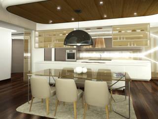 SD EVİ ARTE İç Mimarlık Ankastre mutfaklar Ahşap-Plastik Kompozit Bej
