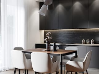"Project ""Black"", Minsk Shmidt Studio Modern Kitchen"