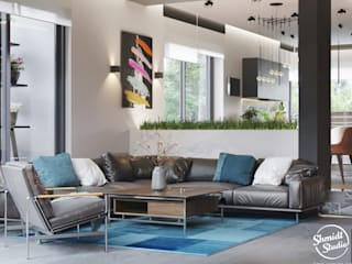 "Project ""Attractive"", Minsk Shmidt Studio Modern Living Room"